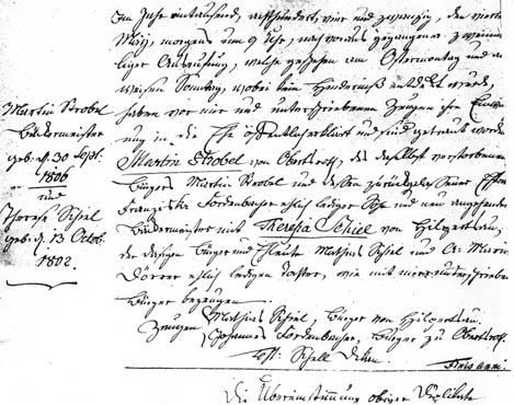 Marriage Record, Martin and Theresia
