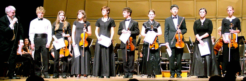 Concerto Competitors, Winner at left